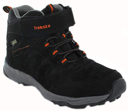 TrekSta - 17041Kj0836 - Chaussures de randonnée Junior Hiking Mid GTX - Junior Color: Black-Orange - Taille 36