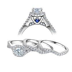 Image of Newshe Wedding Rings for...: Bestviewsreviews