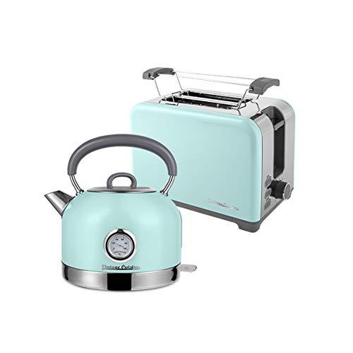 Elektrischer Wasserkocher Vintage Cuisine mit Thermometer und Toaster im Retrostil (MINT)