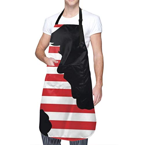 SUUJ Unisex Schürze, wasserdicht langlebig verstellbar 01 Mar 2017 Bild Donald Trump Kochschürzen Schürzen für Frauen zum Geschirrspülen BBQ Grill Restaurant Garden