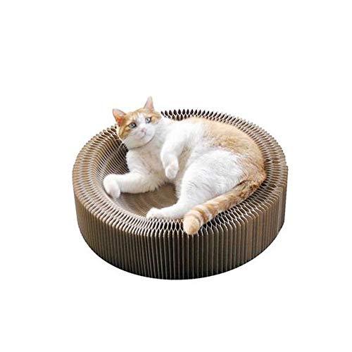 YSYDE Hopfällbar katt lounge-säng, hopfällbar rund den bästa platsen, för katter att vila och leka, katter och hjälper till att skydda möbler från klo skador, katt mer komfort