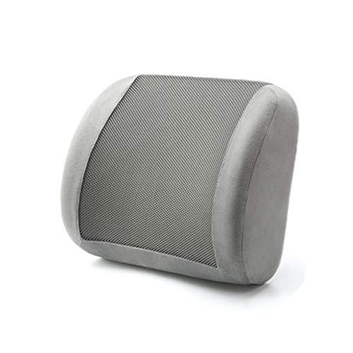 Lumbar Support Pillow - CojíN De Espuma de Memoria para la Parte Inferior de la Espalda para la Silla fe su Hogar Silla de Oficina y Asiento para el AutomóVil,Gris
