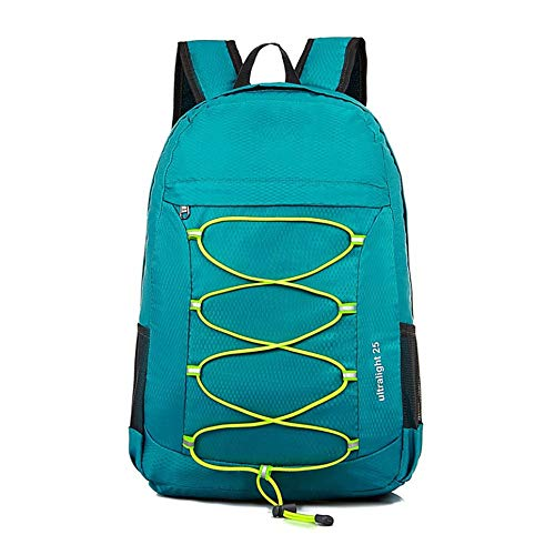 Jtoony Mountaineering Backpack Men's Mountaineering Bag 20L College Students Folding Shoulder Light Travel Sports Backpack Outdoor Travel Bag Outdoor Sports Backpack (Color : Green)
