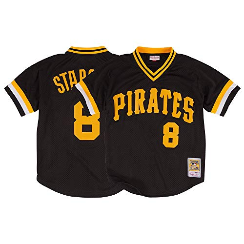 Mitchell & Ness Willie Stargell Black Pittsburgh Pirates Authentic Mesh Batting Practice Jersey X-Large (48)