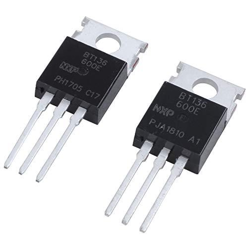 Nrpfell 2 Pzs BT136-600E 600V 4 Amp Transistor de silicio de velocidad de conmutacion alta