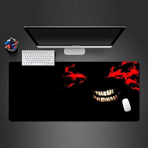 zlxzlx 900X400Mm Rojo Cara Sonriente Alfombrilla De Ratón Cerradura De Goma Alfombrilla De Ratón Grande Accesorios del Juego Personalidad Estera De Tabla De La Computadora Estera De Tabla