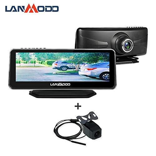 LANMODO Car Night Vision Front and Rear Dual Camera