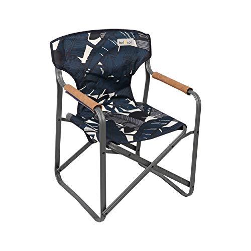Bel-Sol Unisexs, marinblå, Emmy miljövänlig hållbar kraftig stål vikbar regissörsstol
