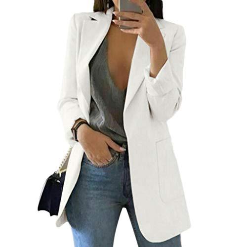 HANMAX Damen Herbst Winter Jacke Outwear Parka Cardigan Schlank Mantel Frauen Elegant Solid Langram Revers Wollmantel Trenchcoat