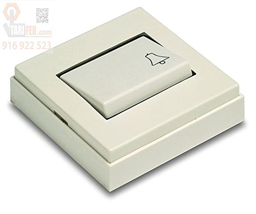 FAMATEL–Interruttore Pulsante superficie 10a-250V Bianco Neve