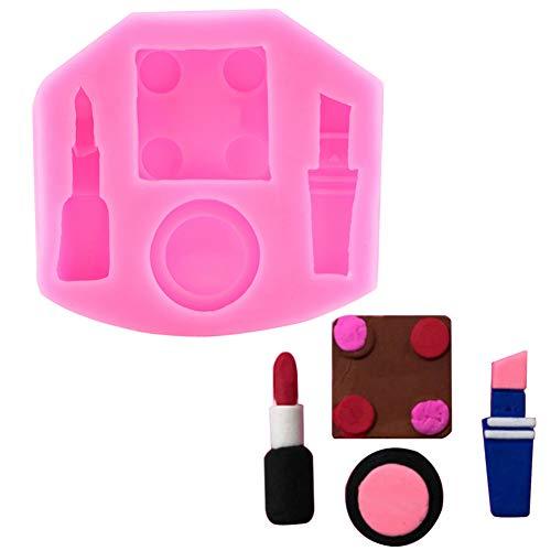 Kuchen Dekoration Make-Up Pinsel Silikonform Weiche Tonform DIY Ton Lippenstift Parfüm Schokolade...