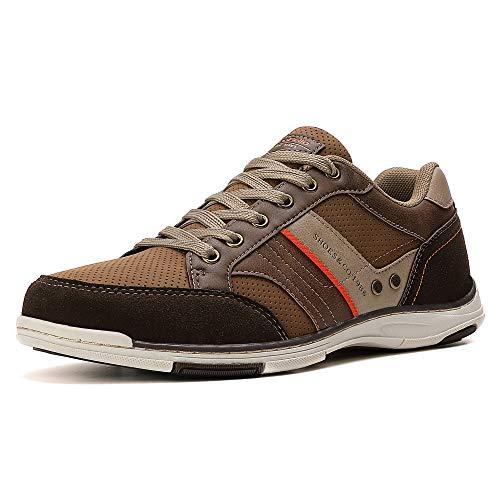AX BOXING Freizeitschuhe Herren Walkingschuhe Berufsschuhe Sneaker Wanderschuhe Trainers Größe 41-46 (45 EU, Braun)