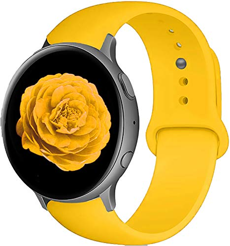 Bands for Samsung Galaxy Watch Active 2 40mm 44mm & Galaxy Watch Active & Galaxy Watch 3 41mm & Galaxy Watch 42mm, 20mm Soft Silicone Bands Replacement for Galaxy Watch Active 2 / Active