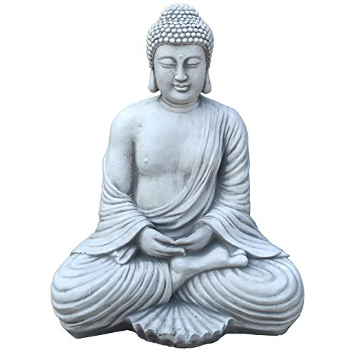 Cast stone - Buddha Temple guard cast stone Frost resistant, grey, 42 cm