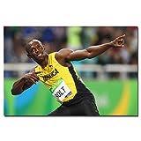 ZHINING Pintura en Lienzo Usain Bolt Retrato Póster Imagen de Arte de Pared Lienzos e Impresiones Impresión en HD Pintura al óleo Mural Sala de Estar Decoración del hogar Pintura sin Marco
