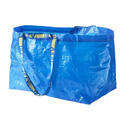 Ikea Einkaufstasche Frakta, groß, ideal für Einkaufen, Wäsche und Aufbewahrung,Blau
