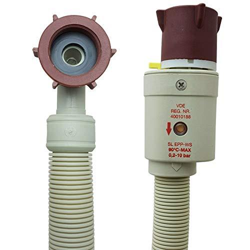 Aquastopschlauch Sicherheitszulaufschlauch 2796 Schlauchanschluss 3/4 Zoll für Waschmaschine und Geschirrspüler Aquastopp Wasserstopp, Größe: 2,0m