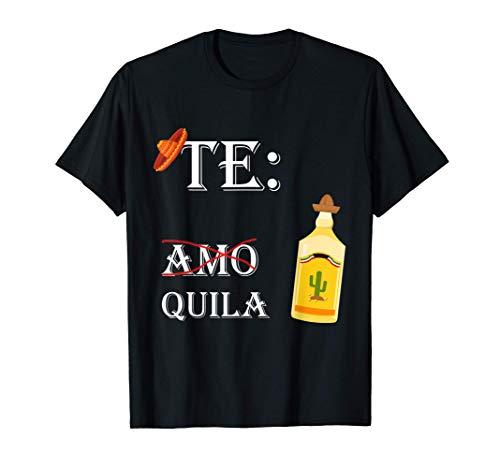 Teamo Tequila | lustiges Mexiko Party Geschenk Chilischote T-Shirt