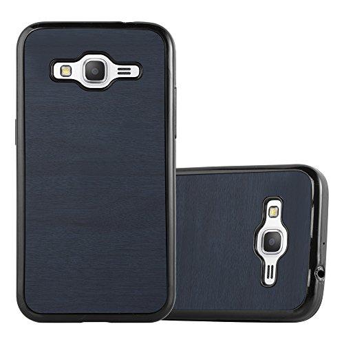 Cadorabo Funda para Samsung Galaxy Core Prime en Wooden Azul - Cubierta Proteccíon de Silicona TPU Delgada e Flexible con Antichoque - Gel Case Cover Carcasa Ligera