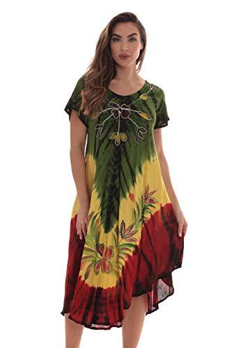 Riviera Sun Rasta Short Sleeve Umbrella Dresses for Women 21929-L