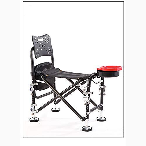 XER Chaise Pliante de pêche, extérieur Polyvalent pêche chaises avec 1.8m Parapluie et Un Sac Parapluie, léger et Portable Pliable Tabouret pour la pêche, Le Camping,A