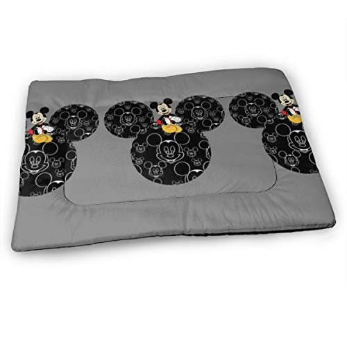 UHBBT Medium Pet Pad, Cute Mickey Mouse Soft Dog Bed Mat, Anti-Slip Pet Kennel Bed, Relieve Stress, 23'X15.5'