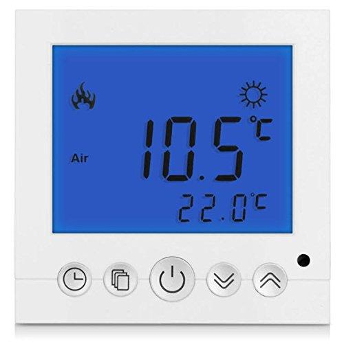 SM-PC®, Digital Thermostat Raumthermostat Fußbodenheizung Wandheizung LED blau #a30