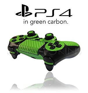 Playstation 4 PS4 Controller Skin in Green Carbon Wrap Cover Decal (B00ID6V9J4) | Amazon price tracker / tracking, Amazon price history charts, Amazon price watches, Amazon price drop alerts