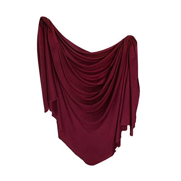 """Large Premium Knit Baby Swaddle Receiving Blanket""""Ruby"""" by Copper Pearl"""