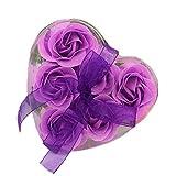 6Pcs Seife Rose Blume Flora Duft Seife Rose Soap Flower Plant ätherisches Öl Seife, Geschenk für...