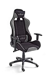 MC Racing gaming chair 2 black-gray desk chair height adjustable office chair resilient up to 100 kg