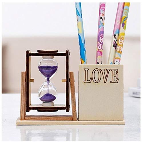 JINSUO NWXZU Eieruhr, Tischplatte Dekorative Sanduhr aus hochwertigem Holz und Glas, erhältlich als/Home Dekor/Geschenk (Vier Stile zur Auswahl) (Color : C)