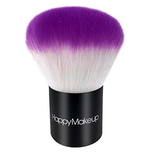 oshhni Outil Portatif de Beauté de Maquillage D'applicateur de Fard à Joues de Brosse de Poudre Libre Molle Portative - Violet