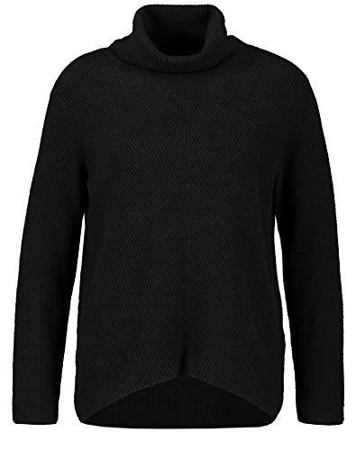 Taifun Damen 472040-15402 Pullover, Schwarz (Black 1100), Small (Herstellergröße: S)