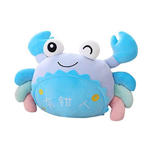 Snlaevx Plüschtier Krabbe, Niedliche Weich Plüsch Cartoon Meerestier Kinderspielzeug Ragdoll Krabben Puppe Plüschpuppe Kissen Geburtstag Geschenk Hauptdekoration 20CM (Blau)