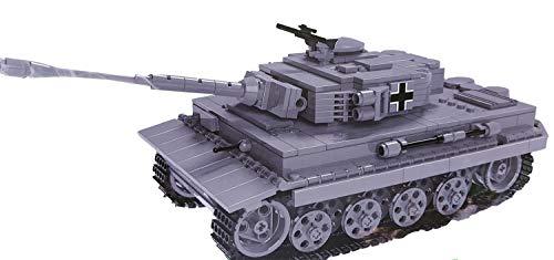 Brigamo Bausteine Panzer Tiger PzKpfw VI AUSF. E, 800 Klemmbausteine