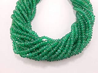 Jewel Beads Natural Beautiful jewellery Green Onyx Faceted Rondelles 3.5mm - 4.00mm Finest Quality 13 inch strandCode:- JBB-21418