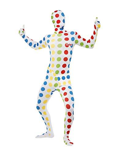 Smiffys, Herren Second Skin Twister Kostüm, Ganzkörperanzug und Bauchtasche, Größe: L, 27019