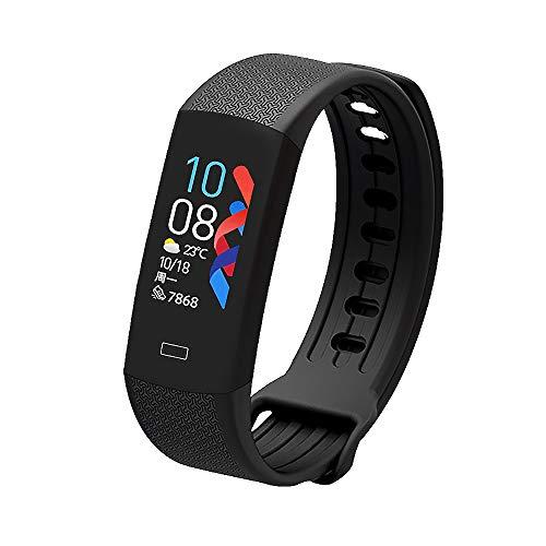 Saimly Fitness Armband mit Blutdruckmessung,Smartwatch Fitness Tracker mit Temperaturdetektor und Pulsmesser Wasserdicht Fitness Uhr Blutdruck Messgeräte Uhr für Damen Herren Anruf SMS SNS Beachten