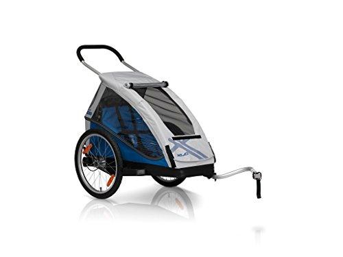 XLC Mono Kinder Anhänger Silber/blau 2018 Fahrradanhänger
