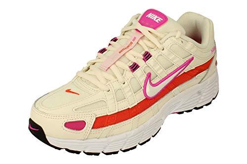 NIKE W P-6000 ESS, Zapatillas de Atletismo Mujer, Pale Ivory/White-Fire Pink-Team Orange, 38.5 EU