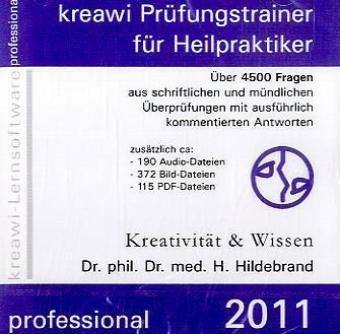 kreawi-Prüfungstrainer professional: CD-ROM Lernsoftware zur Vorbereitung auf die amtsärztliche Überprüfung. Über 4000 Fragen aus schriftliche und ... Antworten. Mit Audio-, Bild-, Pdf-Dateien.