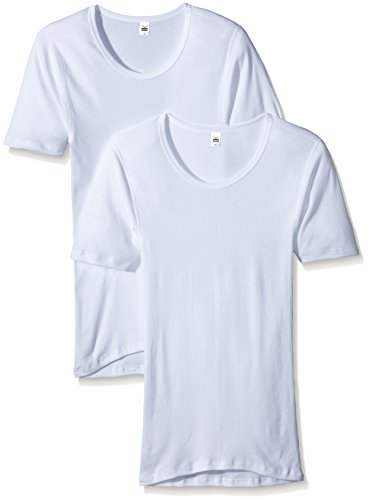 Trigema Herren Unterhemd 100% Bio Doppelpack Maillot De Corps, Blanc, X-Large (Lot de 2) Homme