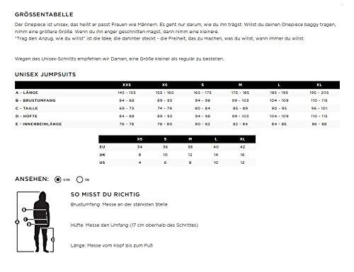 OnePiece Unisex Stream Jumpsuit, Grün (Mermaid), 34 (Herstellergröße: XS) - 4