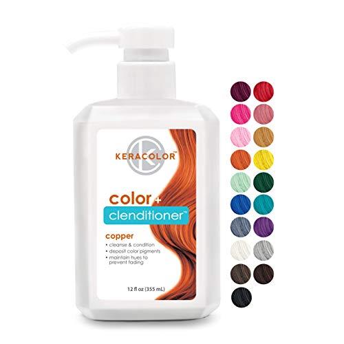 Keracolor Clenditioner COPPER Hair Dye - Semi Permanent Hair Color Depositing Conditioner, 12 Fl. Oz.