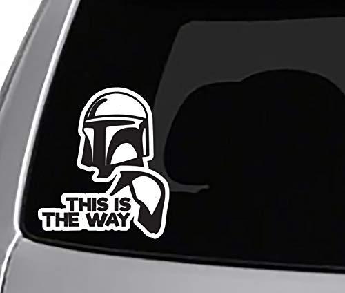 This is The Way Mando Helmet Decal CAR Truck Window Bumper Sticker Mando Star Wars MANDOLORIAN