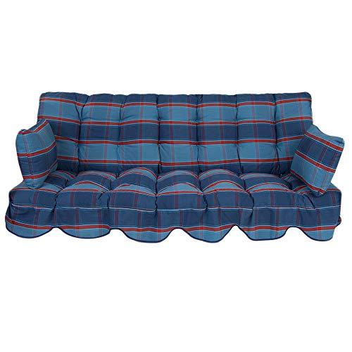 PATIO Auflagen Set Minorca für Hollywoodschaukel Polsterauflage Sitzkissen Rückenkissen Seitenkissen Gesteppt B009-01SB 184 cm