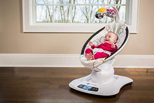 4moms mamaRoo 4 Baby Swing | Bluetooth Baby Rocker with 5 Unique Motions | Soft, Plush Fabric | Multi Plush