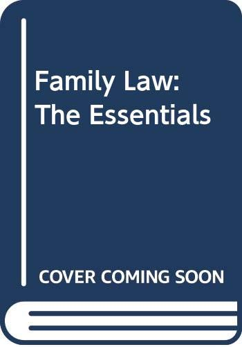 Study Guide to Accompany Family Law: The Essentials