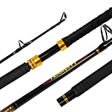 Fiblink Fishing Trolling Rod 1 Piece Saltwater Offshore Rod Big Name Heavy Duty Rod Conventional...